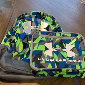 Under Armour matching backpack and lunch box